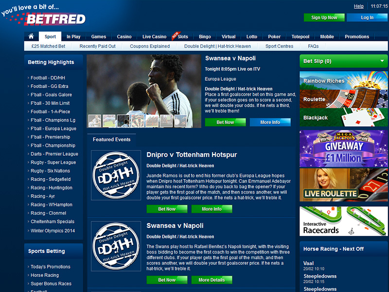 BetFred $25 Free Bet