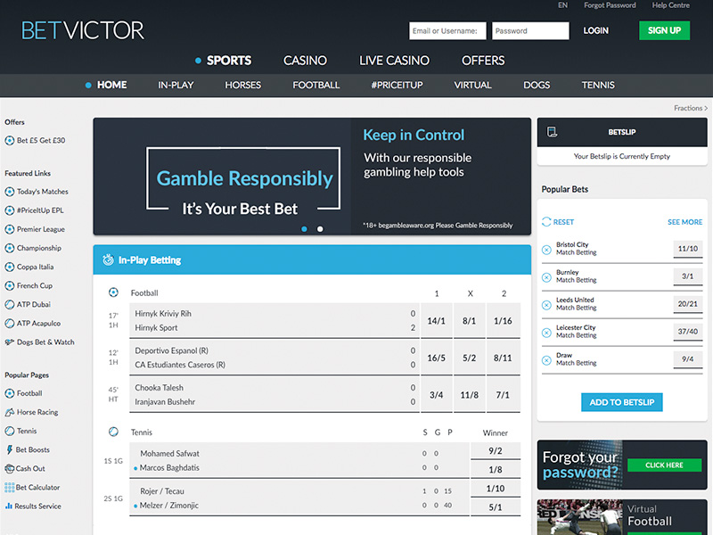 BetVictor Bet £10 Get £60 Free Bet