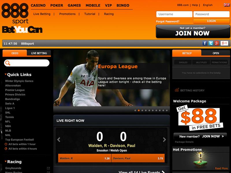 888sport - Free Bet