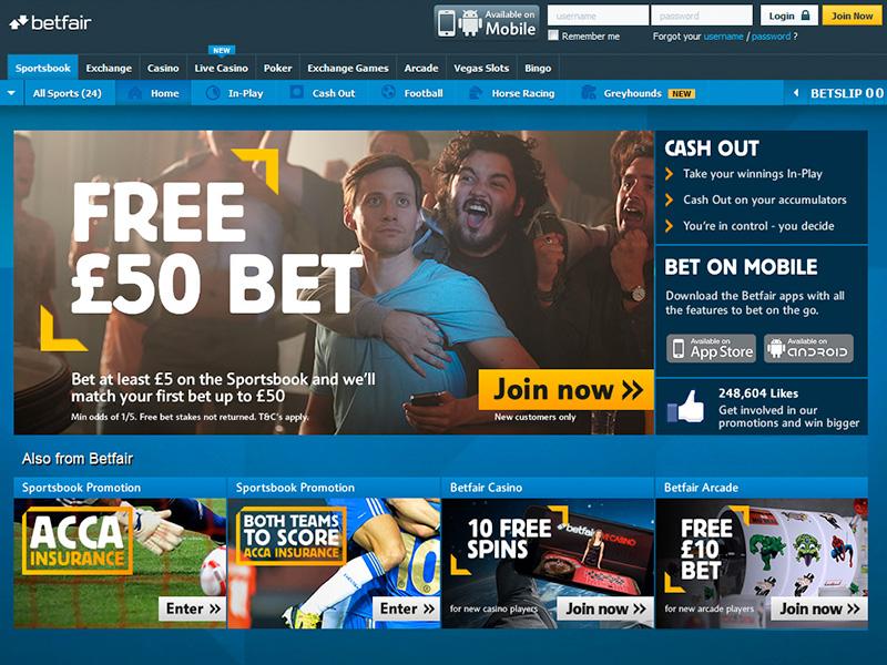 Betfair £50 Free Bet