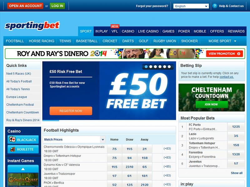 Sporting Bet Free Bet